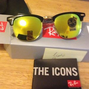 Ray-Ban Accessories - Ray ban clubmasters 3016 light green sun glasses