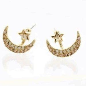 Jewelry - ❤HP Moon star earrings set jacket cuff gold