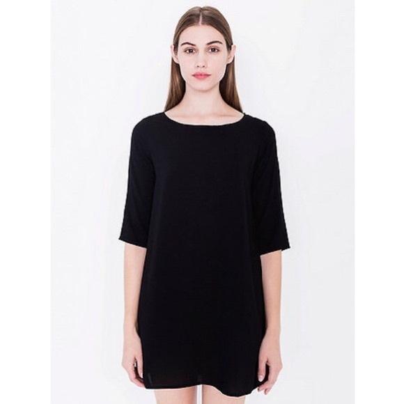 American apparel black tent dress  sc 1 st  Poshmark & 75% off American Apparel Dresses u0026 Skirts - American apparel black ...