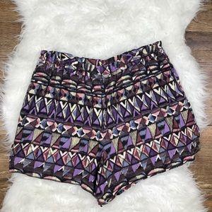 Anthropologie Lilka Linen Button Shorts
