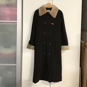 New Hilary Radley wool sheepskin coat