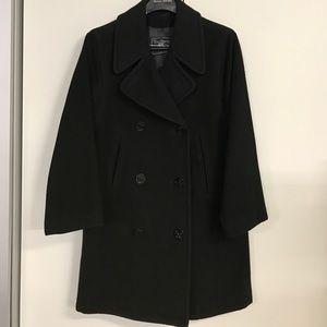 Burberry classic wool pea coat sz M