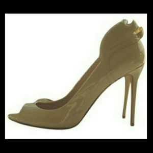 Laurence Dacade Shoes - Laurence Dacade  Patent Leather Beige Winged Pump