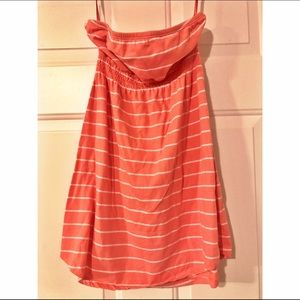 Striped peach sundress