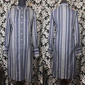 Vintage 70's polkadot psychedelic dress