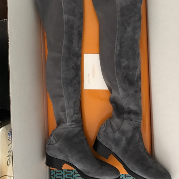 1a9d7a0d2d0 Tory Burch Caitlin Grey 8.5m over the knee boots. M 586360c34127d0b37f1b101e