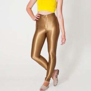 American Apparel Pants - The Disco Pant | American Apparel RARE (Gold)