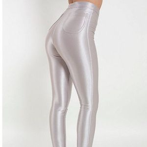 American Apparel Pants - The Disco Pant | American Apparel RARE (silver)