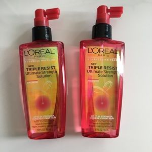 2 Bottles Loreal Triple Resist Leave-in Treatment