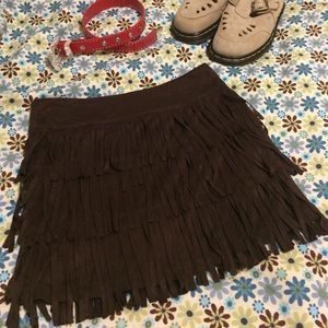 i jeans by Buffalo Other - Jeans by Buffalo faux suede fringe skirt