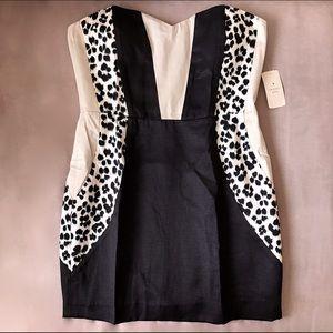 Forever 21 Dresses & Skirts - Forever 21 Cream and Black Leopard Strapless Dress