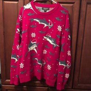 33 degrees Other - Shark nautical 'ugly' Christmas holiday sweater