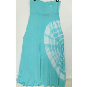 Ocean Drive Dresses & Skirts - Ocean Drive Blue Maxi Tie-Die Long Skirt Dress L