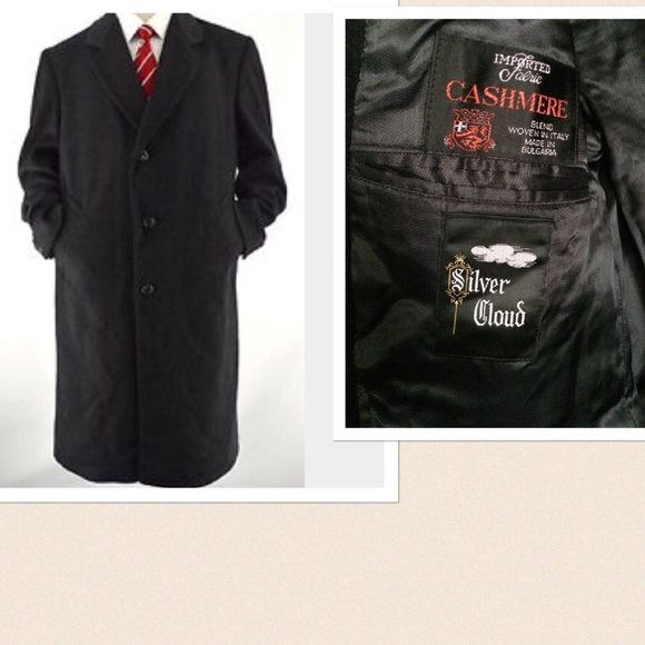 JACOB SIEGEL Co for NORDSTROM Wool TRENCH Coat ITALY Charcoal Gray size 40 S