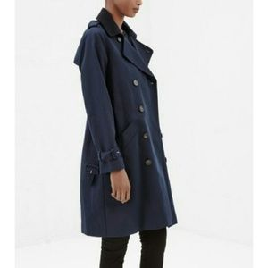 A.P.C. Jackets & Blazers - A.P.C. midnight/black double breasted trench  NWT