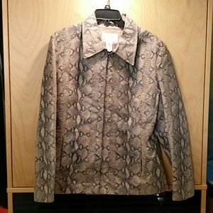 Jacqueline Ferrar Jackets & Blazers - Snakeskin Leather Jacket