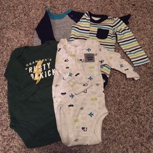 Set of 4 long sleeve Carter's onesies