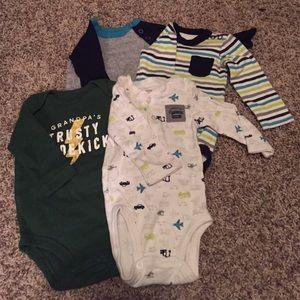 Carter's Shirts & Tops - Set of 4 long sleeve Carter's onesies