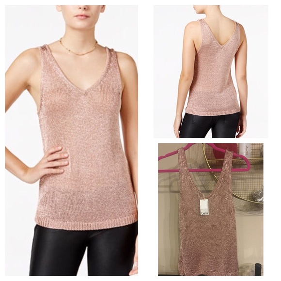 Merveilleux Brand New With Tag Rose Gold Metallic Top