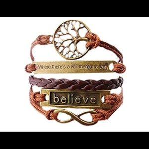 Handmade multi-layer motivational bracelet.