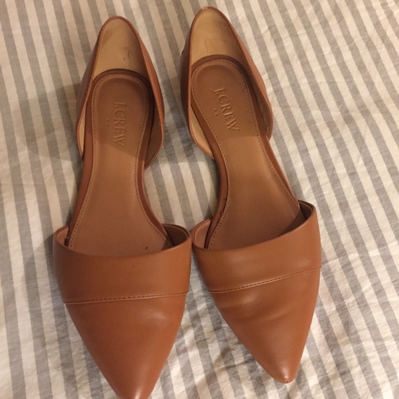 095b1031ce4c6 J. Crew Shoes - J.Crew Cognac Leather D orsay Flats