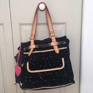 Juicy Couture Handbags - Juicy Couture Polka Dot Velour Bag