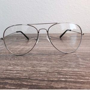 LF Accessories - Silver Aviator Fashion Glasses