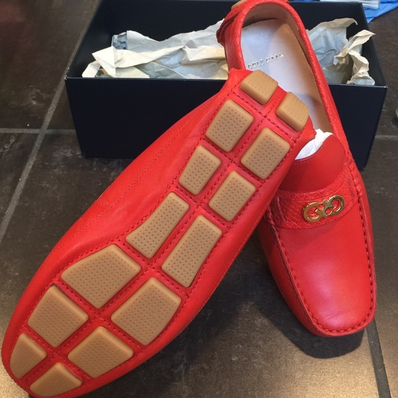 927268e5d33 Cole Haan driver Shelby fiery red shoes loafers