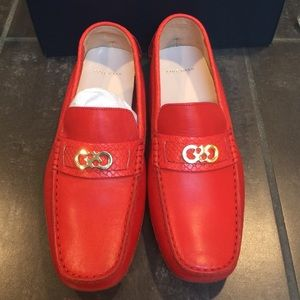 b59ad72c127 Cole Haan Shoes - Cole Haan driver Shelby fiery red shoes loafers