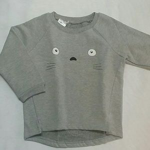 Other - Gray Kitty crew neck sweatshirt