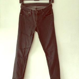 Helmut Lang Black Skinny Jeans 26