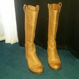 Reduced! Lucky Brand Leather Knee High Boots. Sz 8