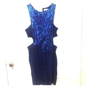 Asos sparkly blue dress