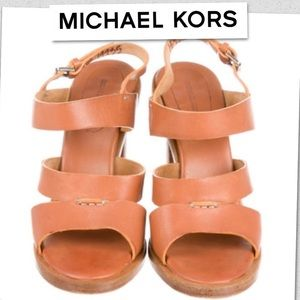 Michael Kors Shoes - Auth Michael Kors Leather Sandals