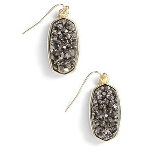 Kendra Scott Danay Earrings Platinum Drusy & Gold