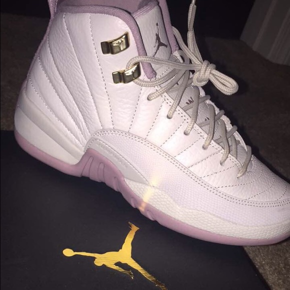 san francisco 6e118 562aa AIR JORDAN GS HEIRESS PLUM FOG 12s