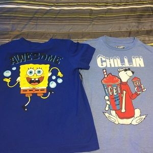 Sponge bob and polar bear t shirts