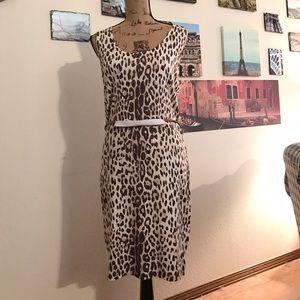 Carmen by Carmen Marc Valvo belted sheath dress!
