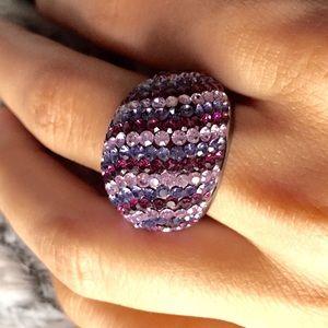 Kenneth Jay Lane Jewelry - KJL Purple Bling ring