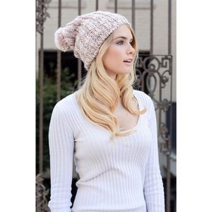 Hannah Beury Accessories - Light Pink Soft Pom Hat