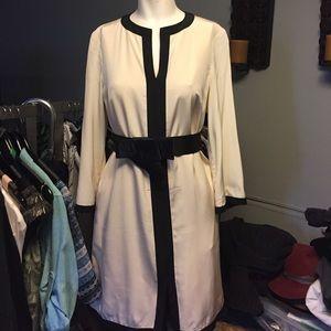 hoss Dresses & Skirts - Hoss cream and black dress worn one time