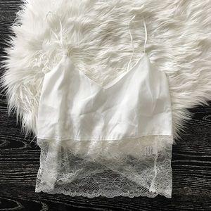 Millau Tops - LF STORES Millau White Lace Tank Top Size XS