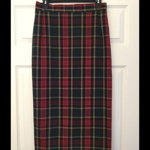 the House of Foxy Dresses & Skirts - Sexy Vintage retro U.K. plaid pencil skirt