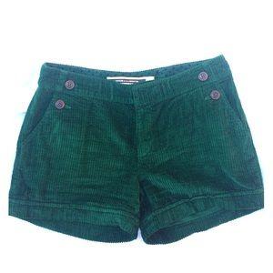 Anthropologie Forest Green Corduroy Shorts sz 6