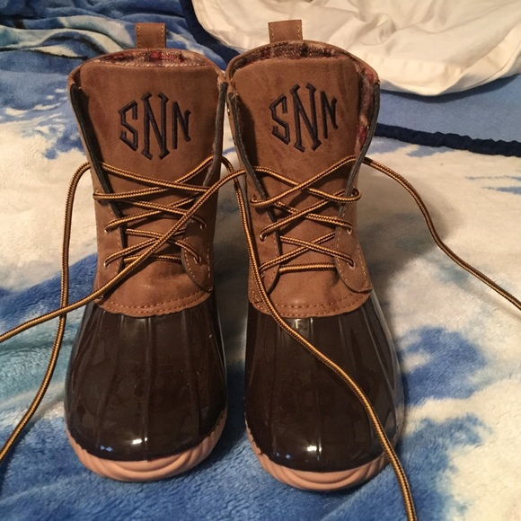 Marley Lilly Monogrammed Duck Boots