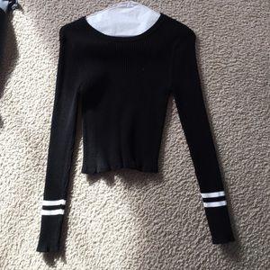 Crop long sleeve shirt