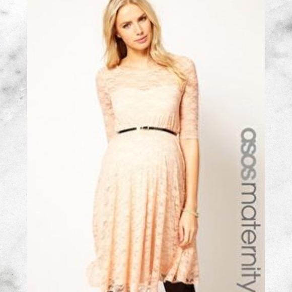 3bb72a67cac12 ASOS Maternity Dresses & Skirts - Asos Cream Lace Maternity Dress  sweethearts