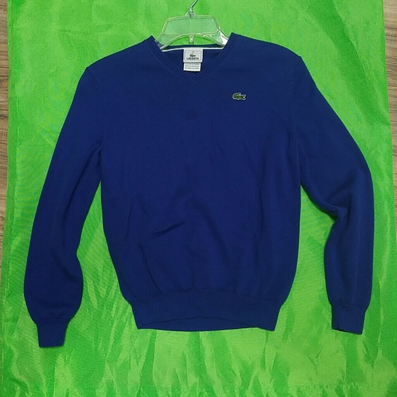 Lacoste - Lacoste Kids size 12 Royal Blue pullover Sweater from ...