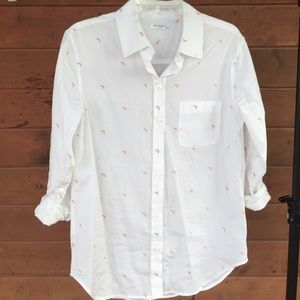Equipment Kenton Banana Print Button Down
