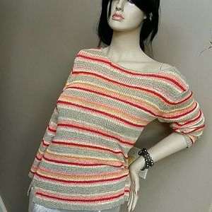Sweaters - Multicolor striped sweater